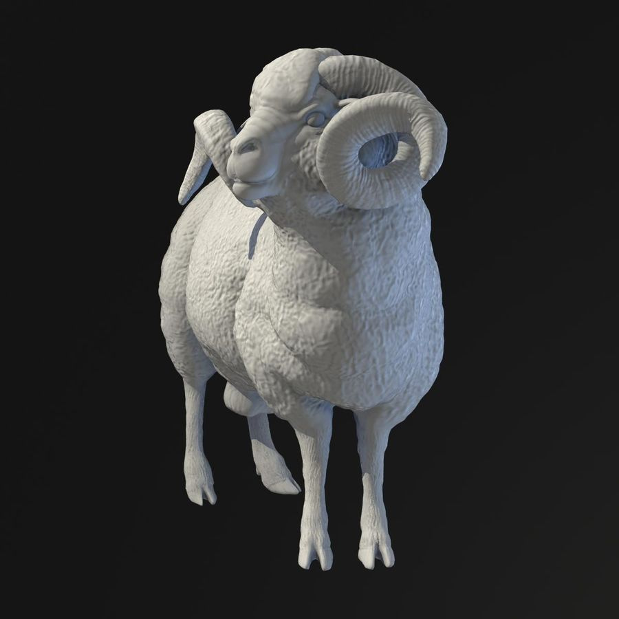 Ram Statue royalty-free 3d model - Preview no. 3