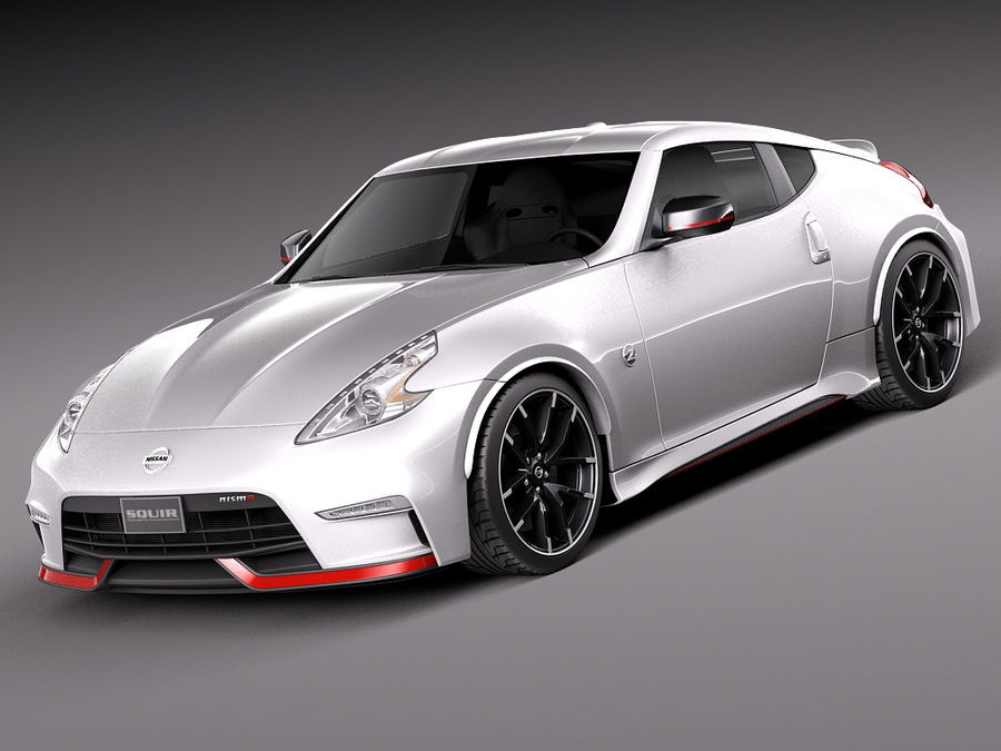 Nissan 370Z Nismo 2015 royalty-free 3d model - Preview no. 1