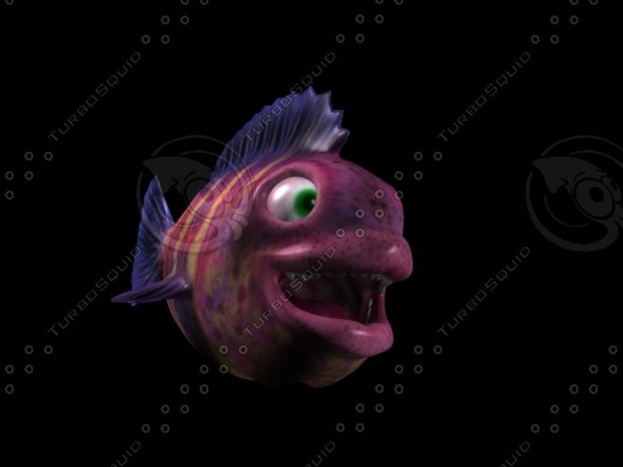 cartoon underwater scene rigged animated 3d model - 900×675