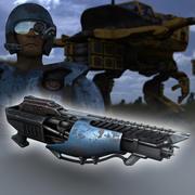 Lazer silahı 3d model