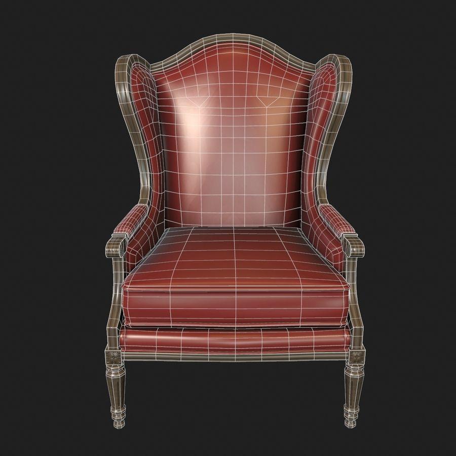 Классическое кресло royalty-free 3d model - Preview no. 7