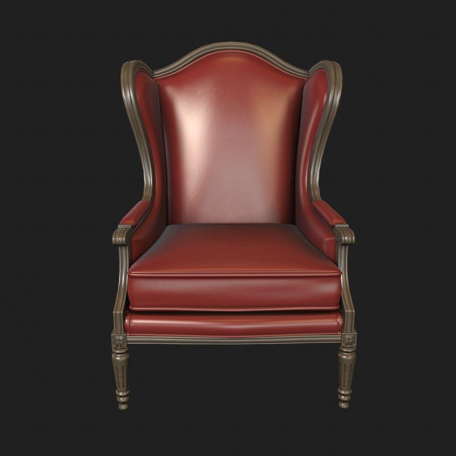 Классическое кресло royalty-free 3d model - Preview no. 3