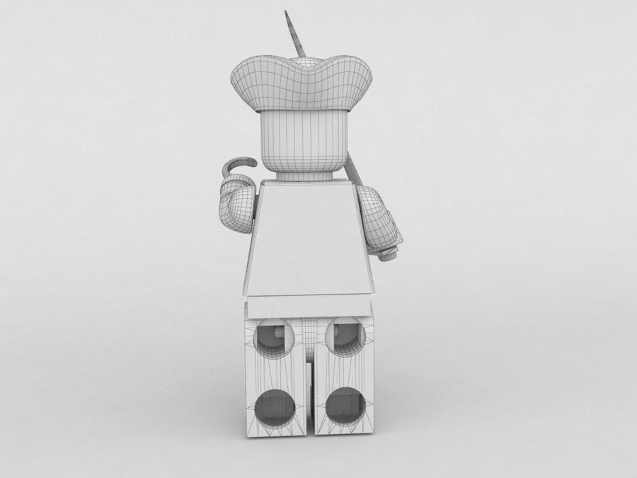 Pirate lego character 2 royalty-free 3d model - Preview no. 6