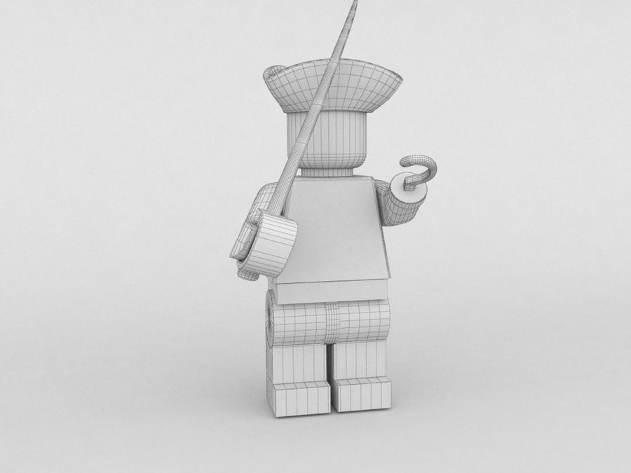 Pirate lego character 2 royalty-free 3d model - Preview no. 5