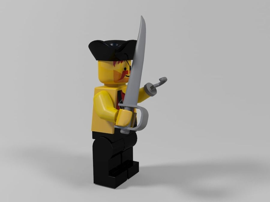 Pirate lego character 2 royalty-free 3d model - Preview no. 3