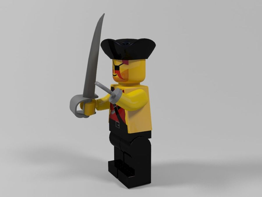 Pirate lego character 2 royalty-free 3d model - Preview no. 4
