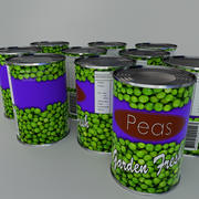 Tinned Peas tin can 3d model