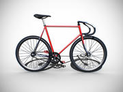 Classic Fixed Gear Bicycle 3d model