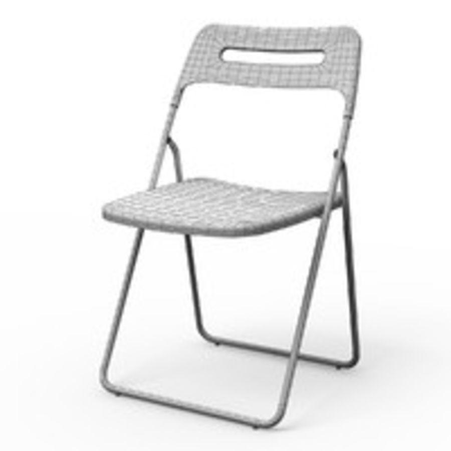 Ikea Sedie Pieghevoli Nisse.Sedia Da Pranzo Pieghevole Nisse Modello 3d 8 Obj Fbx 3ds