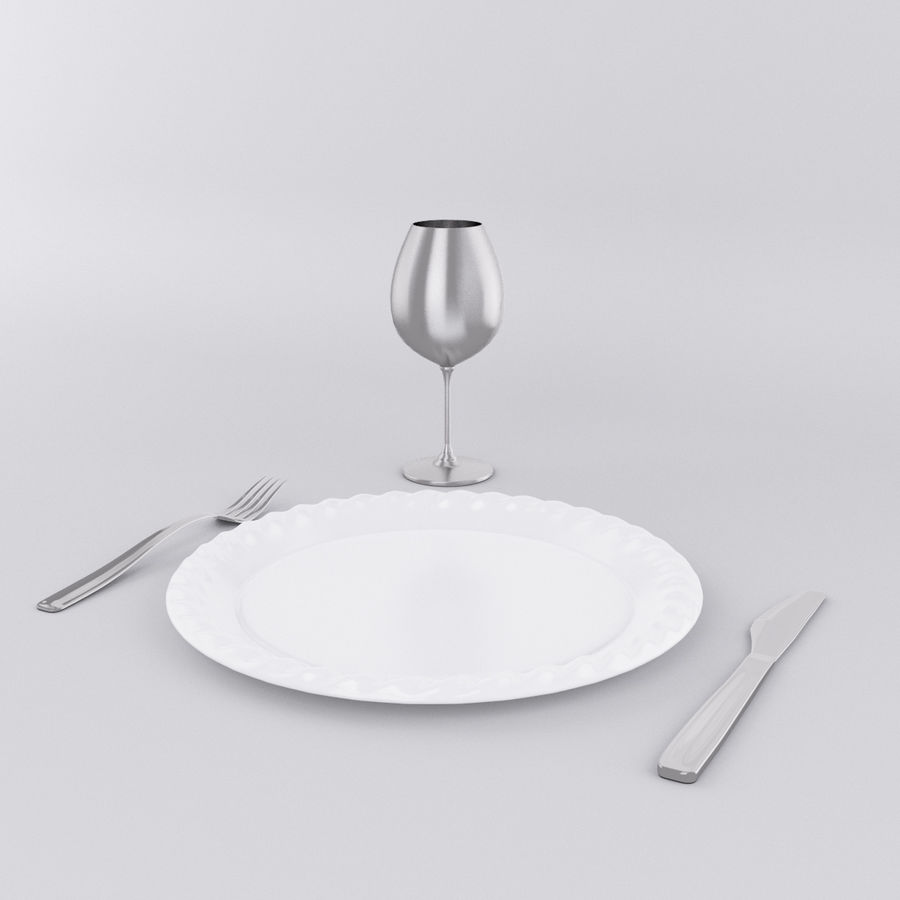 Plate Set royalty-free 3d model - Preview no. 1