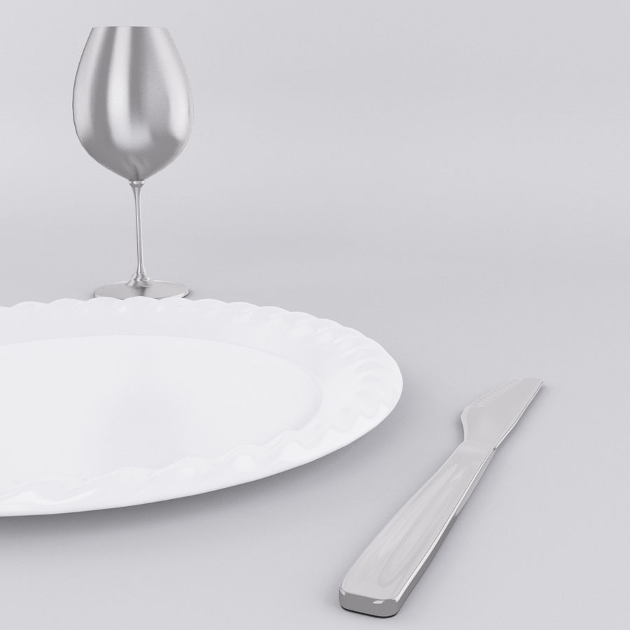 Plate Set royalty-free 3d model - Preview no. 4