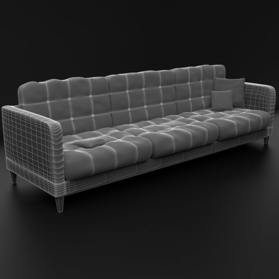 Modern läder möbel uppsättning royalty-free 3d model - Preview no. 15