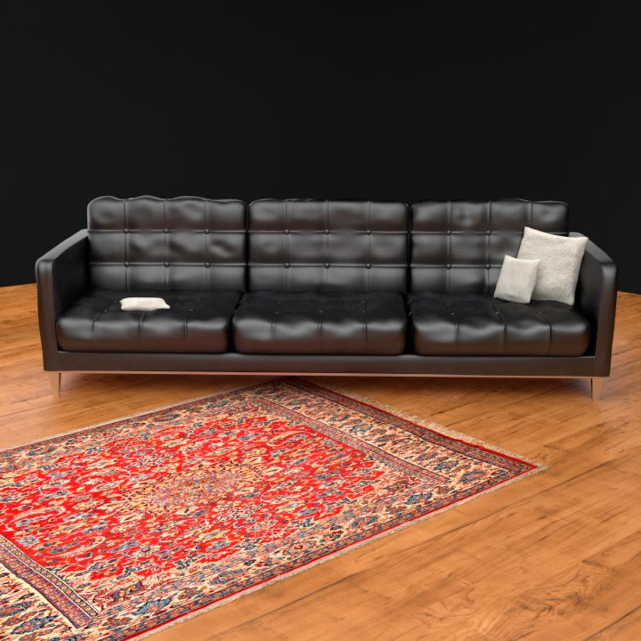 Modern läder möbel uppsättning royalty-free 3d model - Preview no. 2