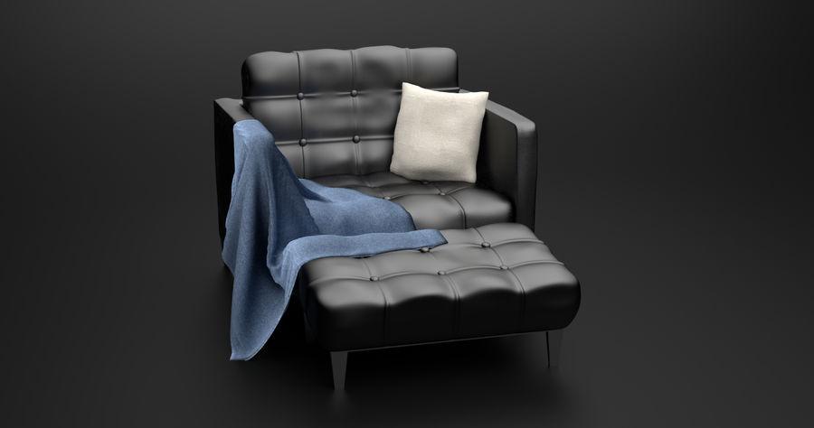 Modern läder möbel uppsättning royalty-free 3d model - Preview no. 4