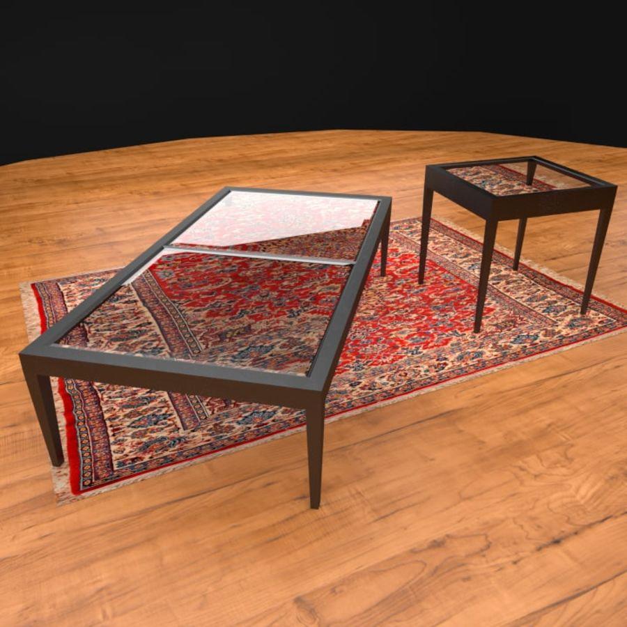 Modern läder möbel uppsättning royalty-free 3d model - Preview no. 9