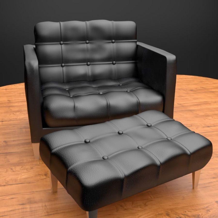 Modern läder möbel uppsättning royalty-free 3d model - Preview no. 7
