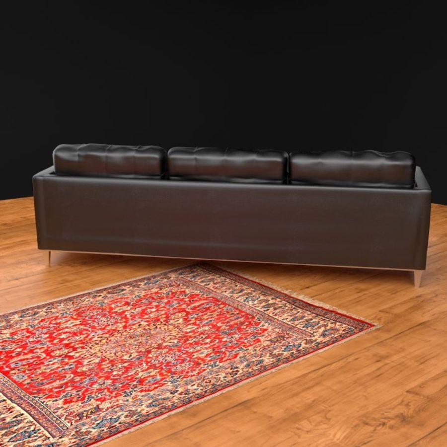 Modern läder möbel uppsättning royalty-free 3d model - Preview no. 3