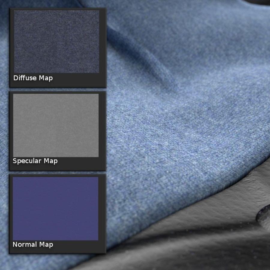 Modern läder möbel uppsättning royalty-free 3d model - Preview no. 11