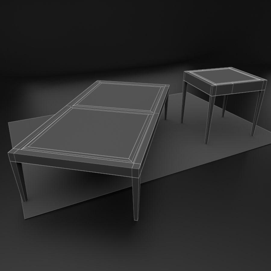 Modern läder möbel uppsättning royalty-free 3d model - Preview no. 10