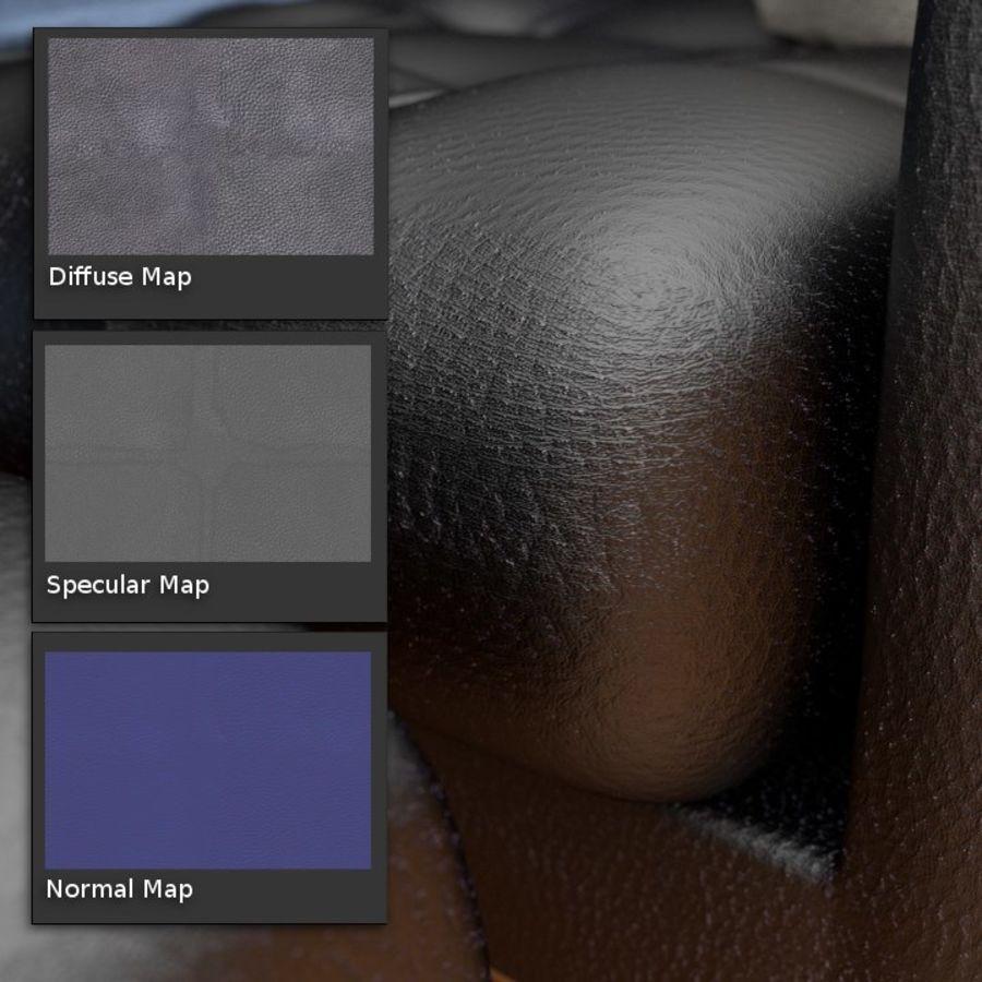 Modern läder möbel uppsättning royalty-free 3d model - Preview no. 12