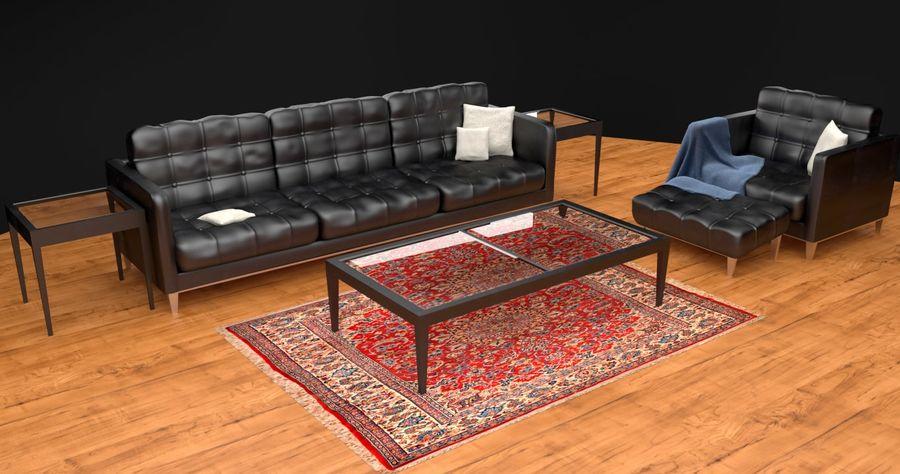 Modern läder möbel uppsättning royalty-free 3d model - Preview no. 1