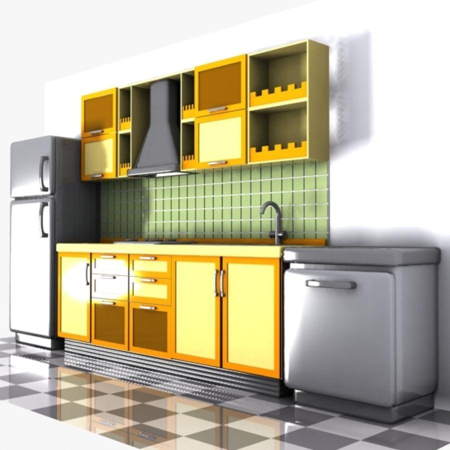 3d Max Kitchen Interior Design: Cartoon Kitchen Interior 3D Model $15