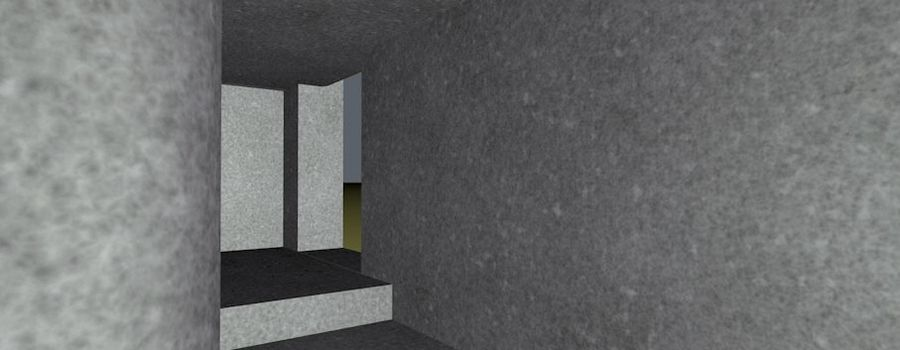 WW2 Bunker, 2 levels, 5 rooms, (Low Poly) royalty-free 3d model - Preview no. 16