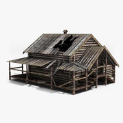 Old Wooden House 07 3d model