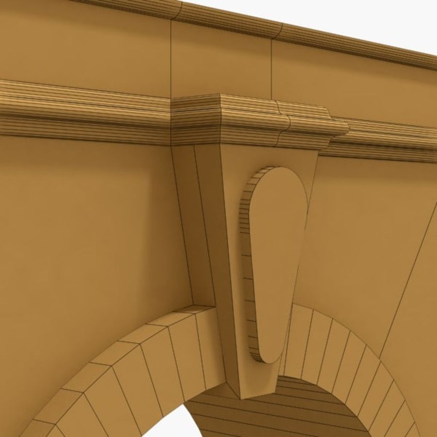 Arch 002-1 royalty-free 3d model - Preview no. 7
