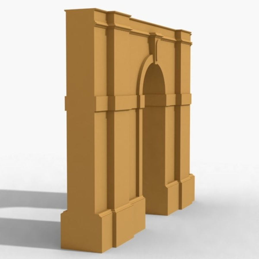 Arch 002-1 royalty-free 3d model - Preview no. 3