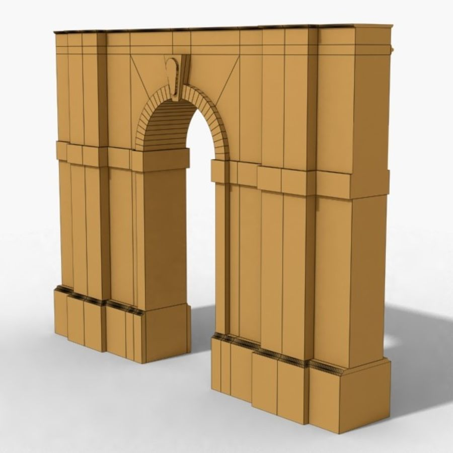 Arch 002-1 royalty-free 3d model - Preview no. 8
