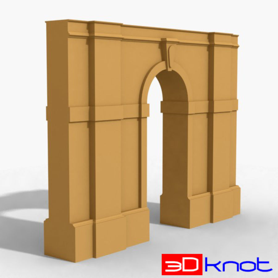 Arch 002-1 royalty-free 3d model - Preview no. 1