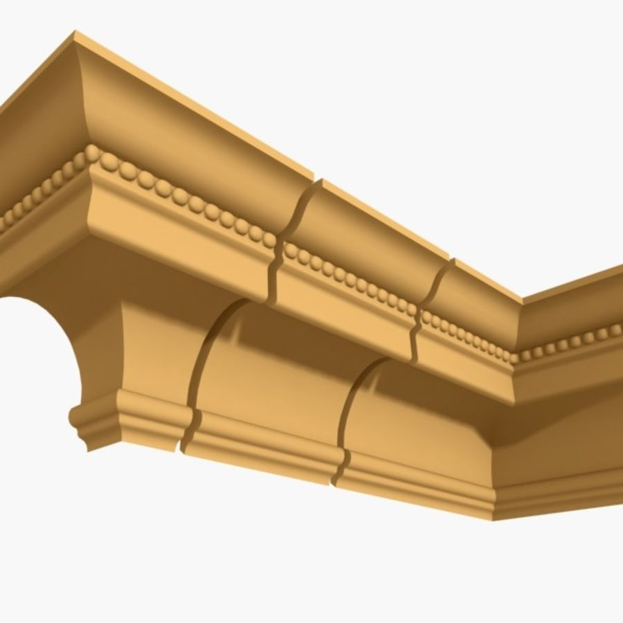 Cornice Molding 027 royalty-free 3d model - Preview no. 2