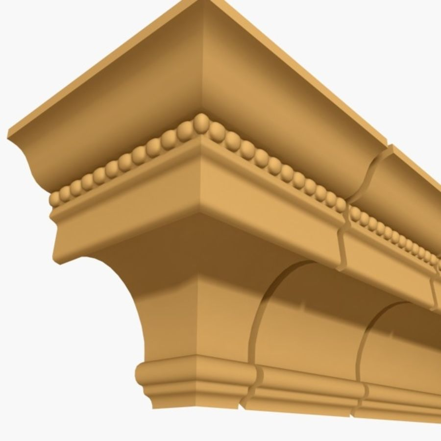 Cornice Molding 027 royalty-free 3d model - Preview no. 1