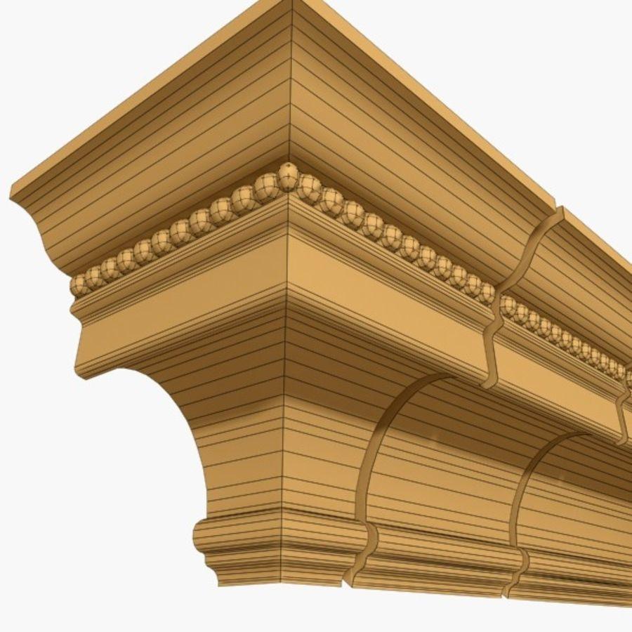 Cornice Molding 027 royalty-free 3d model - Preview no. 5
