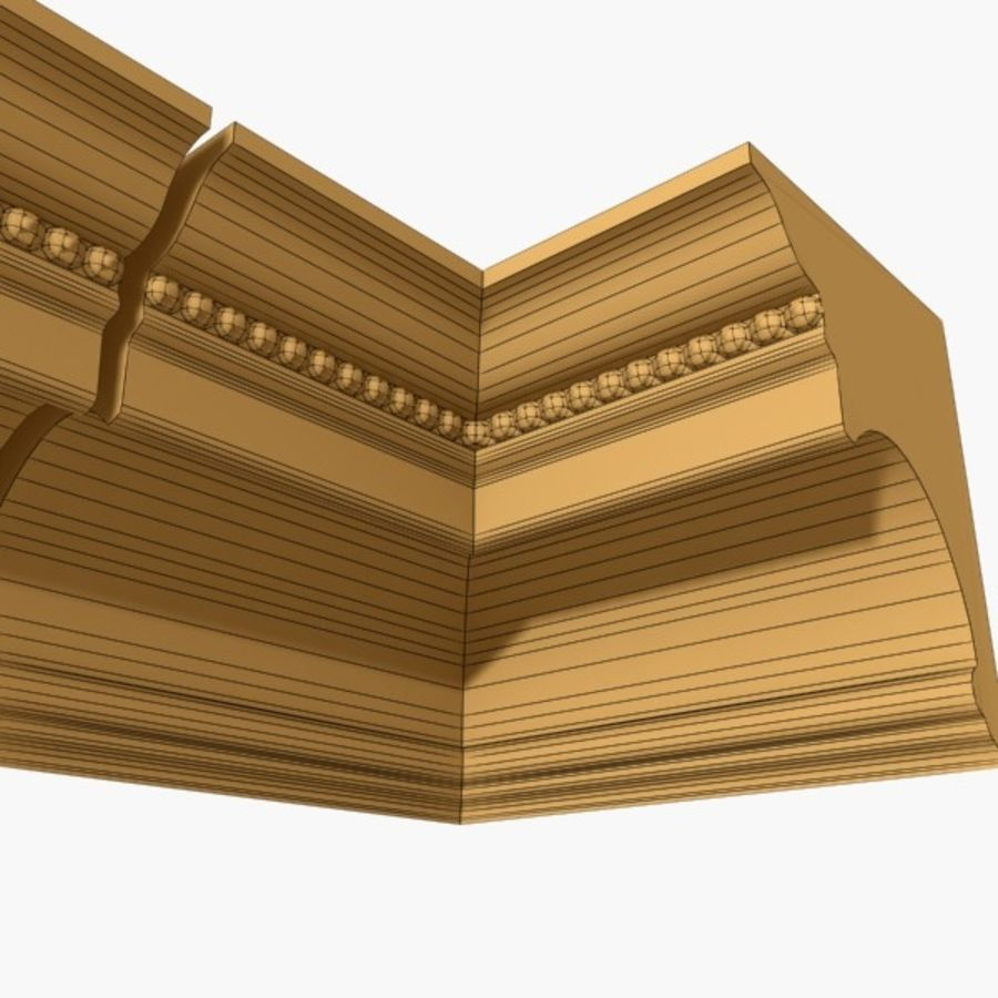 Cornice Molding 027 royalty-free 3d model - Preview no. 6