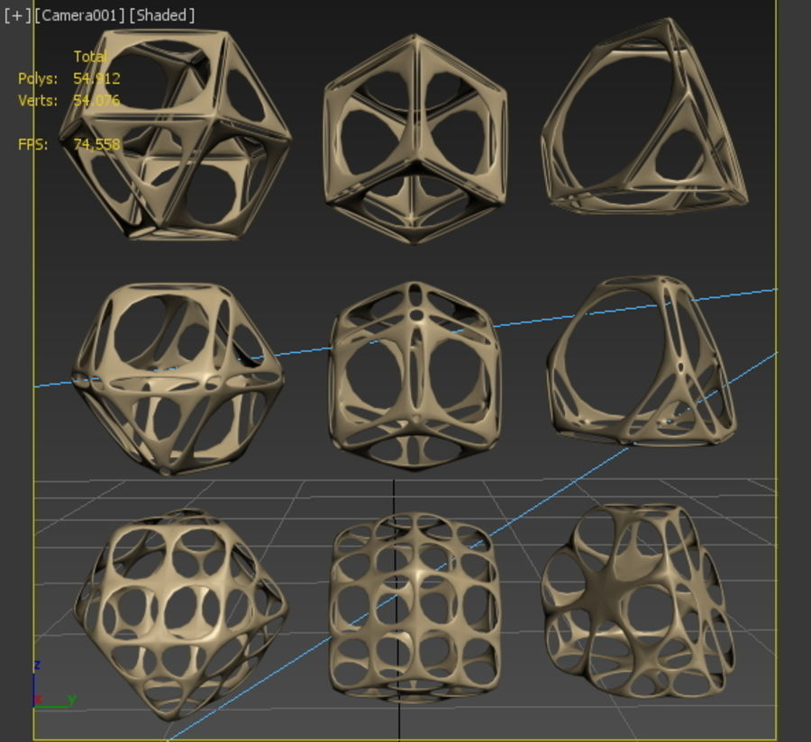 Geometric Shape MHT-06 royalty-free 3d model - Preview no. 6