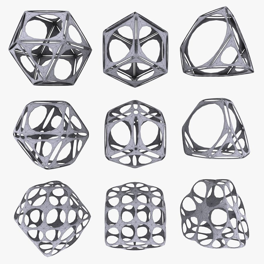 Geometric Shape MHT-06 royalty-free 3d model - Preview no. 5