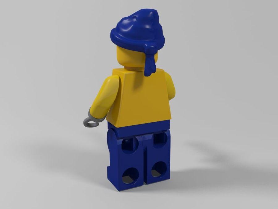 Pirackie postacie lego royalty-free 3d model - Preview no. 19