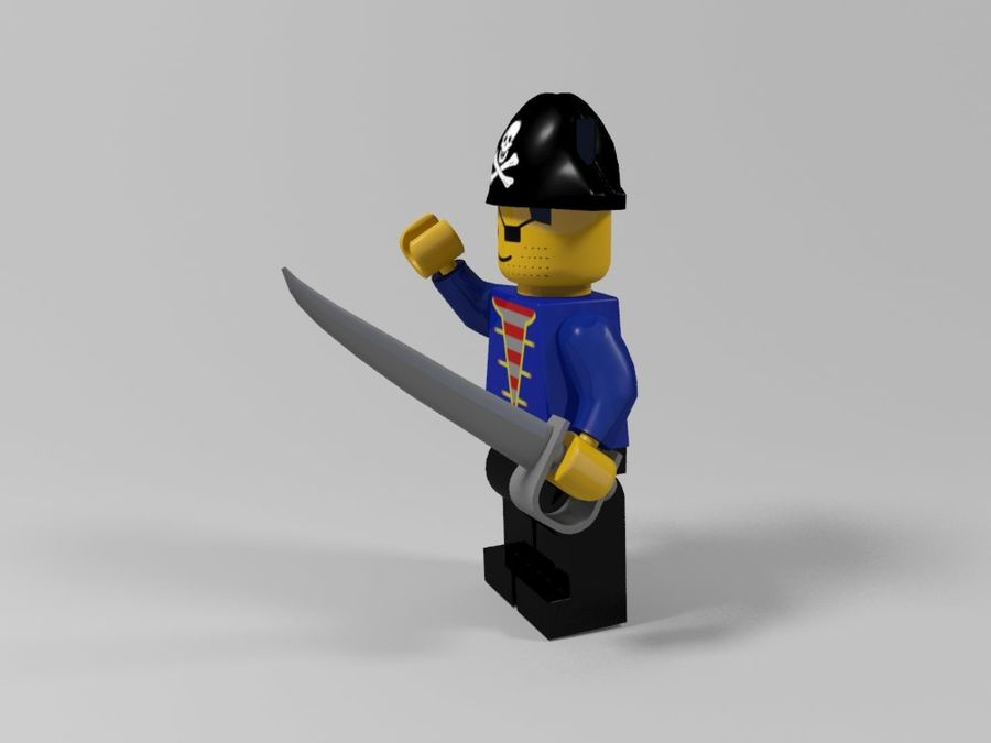Pirackie postacie lego royalty-free 3d model - Preview no. 6