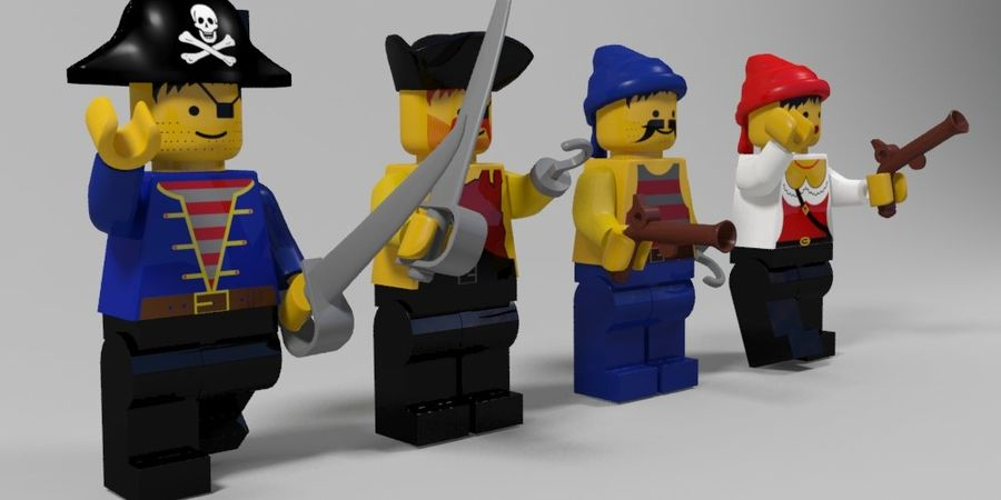 Pirates lego karaktärer royalty-free 3d model - Preview no. 3