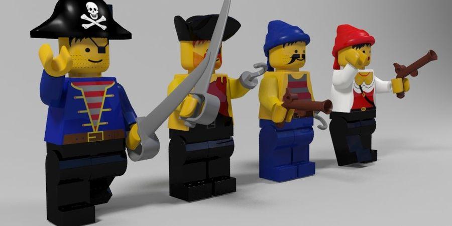 Pirackie postacie lego royalty-free 3d model - Preview no. 3