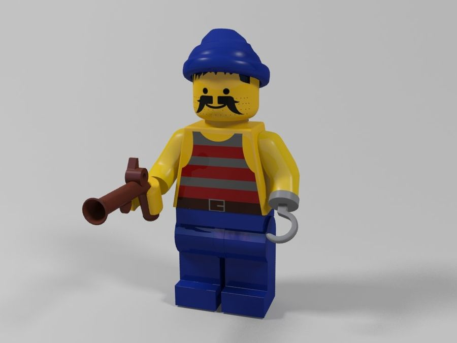 Pirackie postacie lego royalty-free 3d model - Preview no. 17