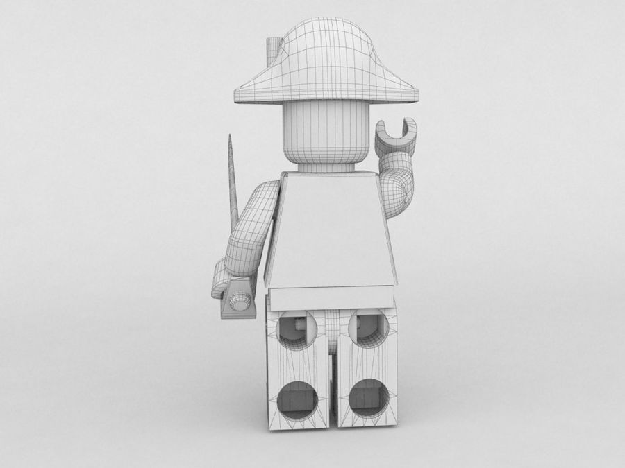 Pirackie postacie lego royalty-free 3d model - Preview no. 10