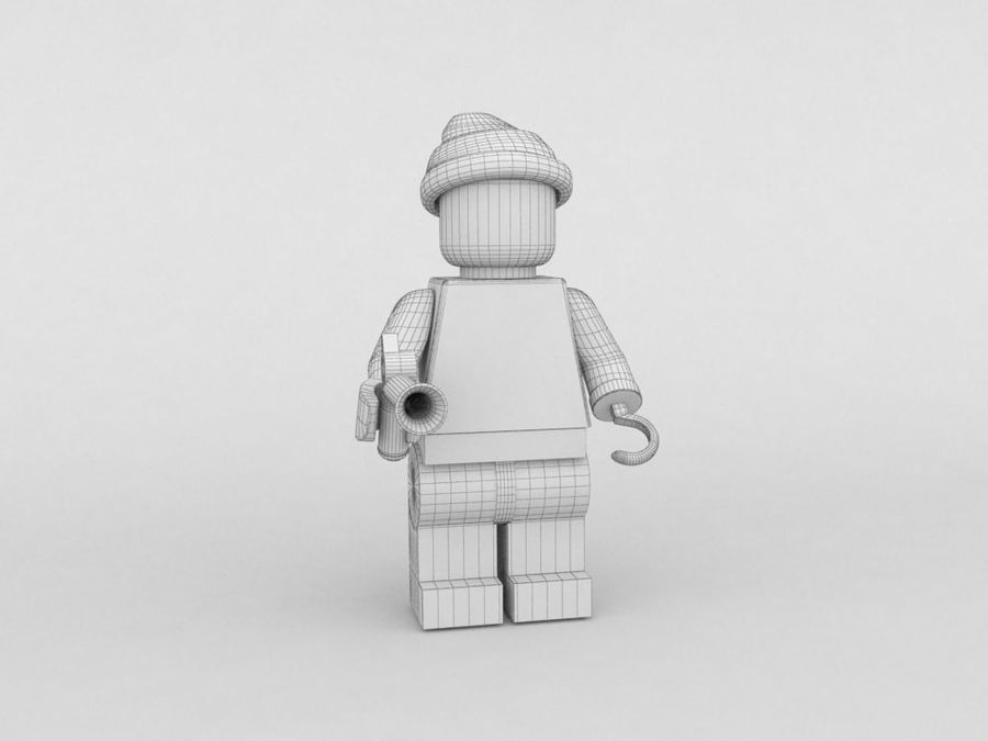 Pirackie postacie lego royalty-free 3d model - Preview no. 21