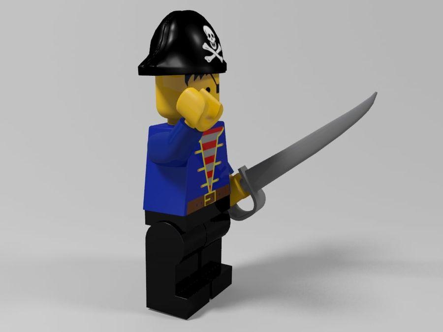 Pirackie postacie lego royalty-free 3d model - Preview no. 8