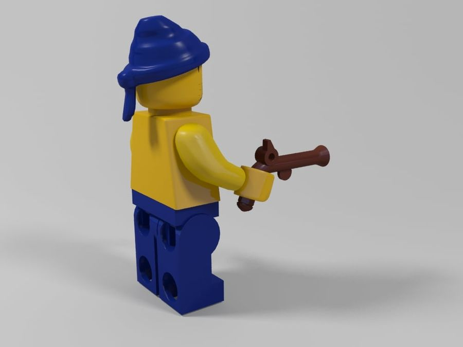 Pirackie postacie lego royalty-free 3d model - Preview no. 20