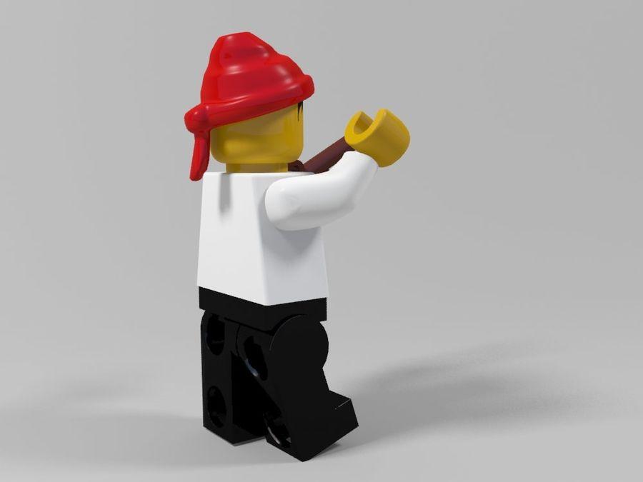 Pirackie postacie lego royalty-free 3d model - Preview no. 26