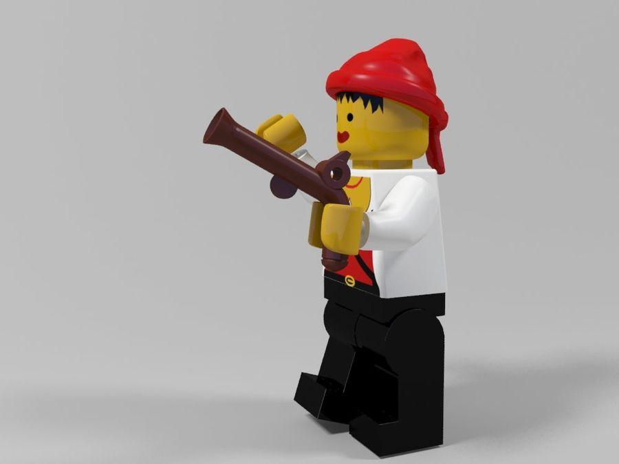 Pirackie postacie lego royalty-free 3d model - Preview no. 24