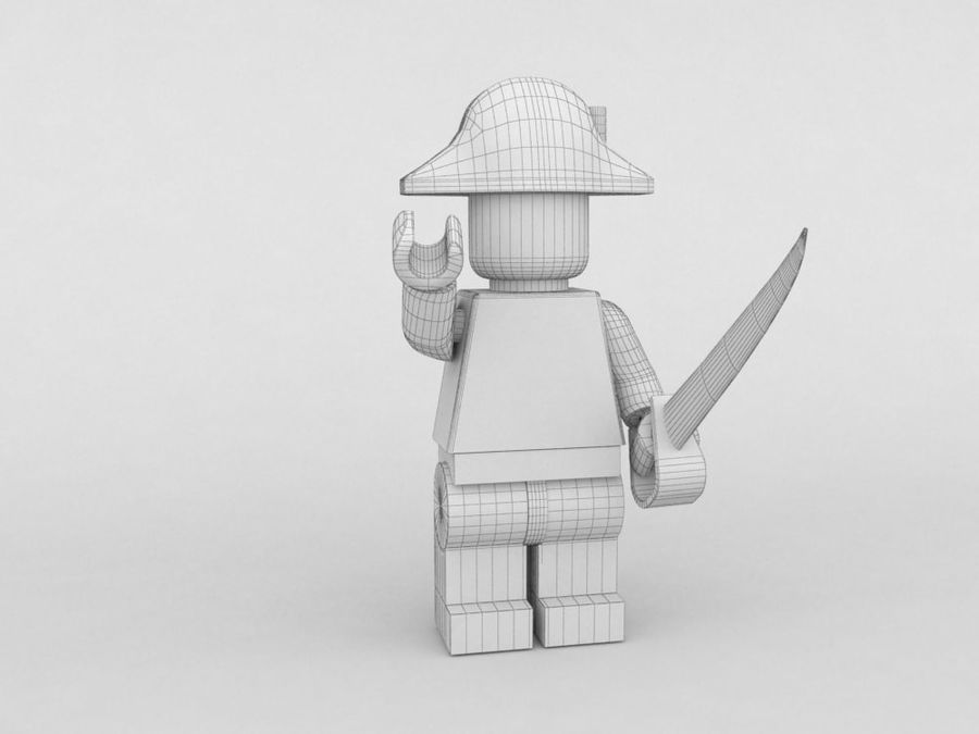 Pirackie postacie lego royalty-free 3d model - Preview no. 9